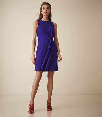 Reiss NADIA PLEAT DETAIL DAY DRESS Blue
