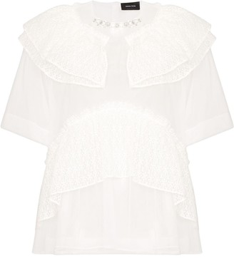 Simone Rocha lace-trimmed tulle T-shirt
