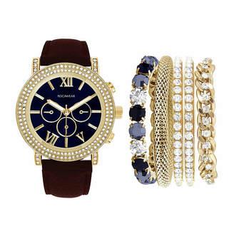 Rocawear Womens Brown Strap Watch-Rlst1959g329-006