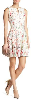 Gabby Skye Floral Print Scuba Dress