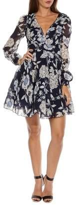 TFNC Nordi Floral Fit & Flare Party Dress