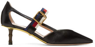 Gucci Black Unia Bamboo Heels