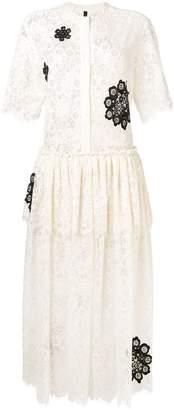 Sara Lanzi floral lace dress