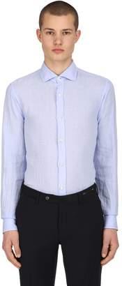 Z Zegna Slim Fit Linen Shirt
