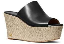 MICHAEL Michael Kors Cunningham Leather Wedge Sandals