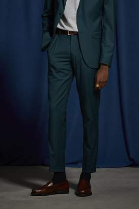 Urban Outfitters Teal Blue Slim Fit Suit Pant