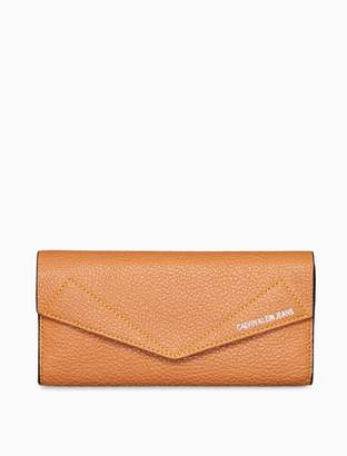 Calvin Klein leather flap longfold wallet