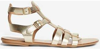 Dorothy Perkins Womens Gold Leather 'Finlay' Sandals