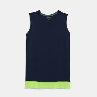 Silk-Knit Sleeveless Tee