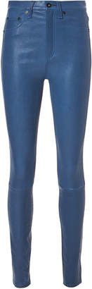 Rag & Bone Blue Skinny Leather Pants