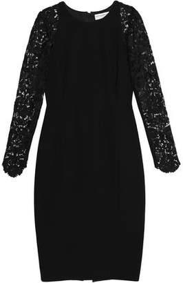 Amanda Wakeley Guipure Lace-Paneled Ponte Dress