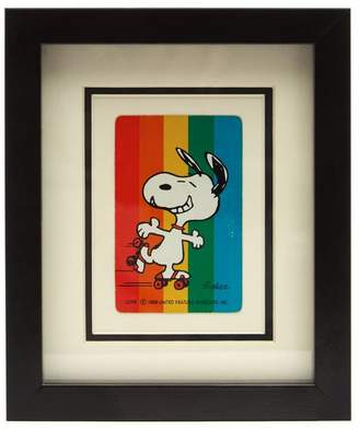 Vintage Playing Cards Snoopy Rainbow Vintage Framed Playing Card