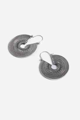 Topshop Filled Engraved Hoop Earrings