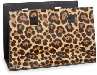 Kate Spade Make It Mine Reversible Solid Leather/Leopard-Print Genuine Calf Hair Snap-On Accent Flap
