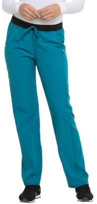 Scrubstar Women's Fashion Collection Active 4-Way Stretch Scrub Pant with Mesh Knit Contrast
