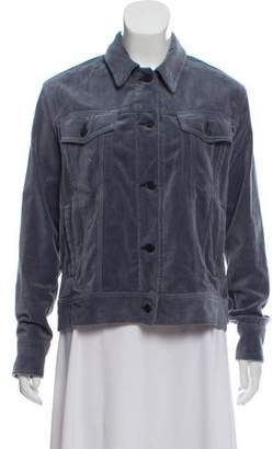 Rag & Bone Button-Up Velvet Jacket