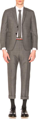 Thom Browne Classic Gingham Cool Wool Suit with Tie