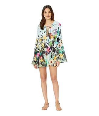 Nanette Lepore Bloom Botanical Tunic Cover-Up