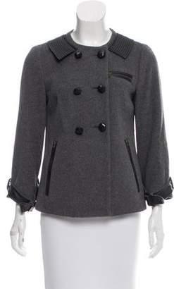 Diane von Furstenberg Peabody Leather-Accented Jacket