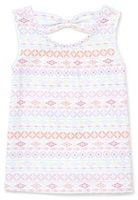 Children's Place The Short Sleeve Printed Bow Back Top (Baby Girls & Toddler Girls)