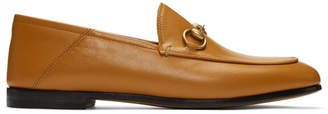 Gucci Brown Brixton Crushback Loafers