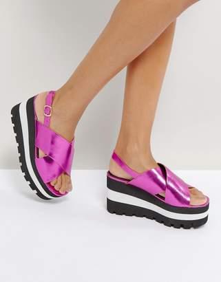 Qupid Chunky Flatform Sandals