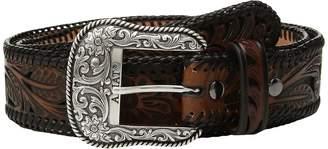 Ariat Tapered Floral Pierced Belt Men's Belts
