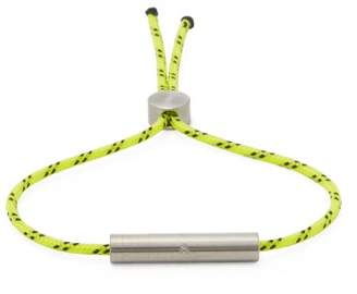 Alice Made This - Charlie Stainless Steel And Cord Bracelet - Mens - Yellow