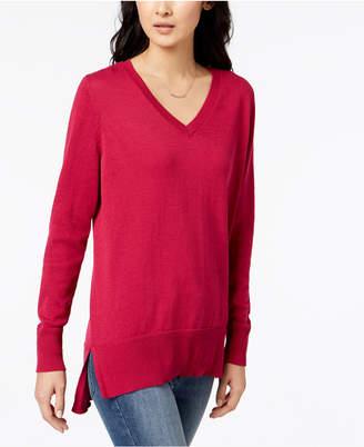 Maison Jules V-Neck Tunic Sweater