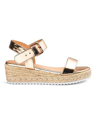 1df756ca7646 Simply Be Indra Espadrille Wedge Extra Wide Fit