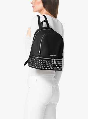 63377cca5a04 MICHAEL Michael Kors Rhea Medium Studded Pebbled Leather Backpack