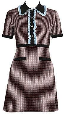 Miu Miu Women's Jersey Tweed Polo Dress