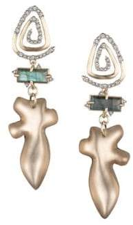Alexis Bittar Blue Labradorite, Crystal& 10K Gold-Plated Spiral Drop Earrings