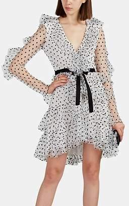 Philosophy di Lorenzo Serafini Women's Ruffle Polka Dot Tulle Minidress