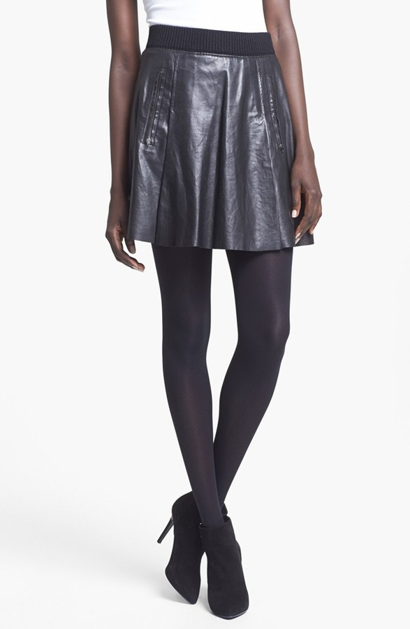 Tracy Reese Full Leather Skirt