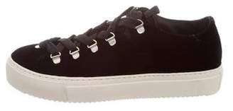 AllSaints Velvet Low-Top Sneakers w/ Tags