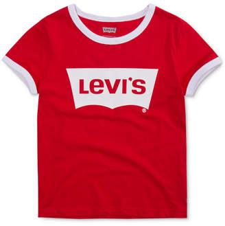 Levi's Big Girls Retro Ringer Cotton T-Shirt
