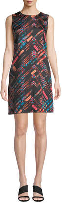 M Missoni Short Silky Printed Shift Dress