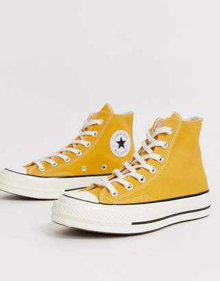 154914f721f5 at ASOS · Converse Chuck  70 Hi Sunflower Yellow trainers