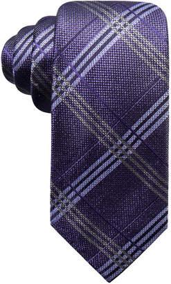 Ryan Seacrest Distinction Men's Portofino Plaid Slim Silk Tie