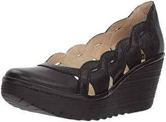 Fly London Women's Yelk835Fly Closed Toe Heels, (Black), 41 EU