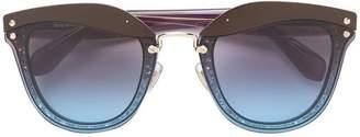 Miu Miu glitter frame sunglasses