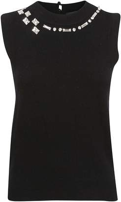 Marc Jacobs Embellished Knitted Tank Top