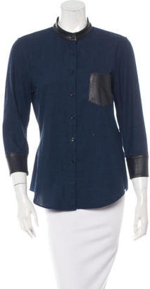 Boy. by Band of Outsiders Easy Leather-Trimmed Top $85 thestylecure.com