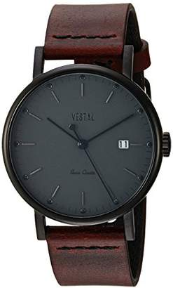 Vestal ' Sophisticate 36' Swiss Quartz Stainless Steel and Leather Dress Watch