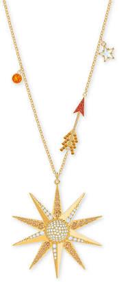 "Swarovski Gold-Tone Lucky Goddess Star Pendant Necklace, 31-3/8"" + 2"" extender"