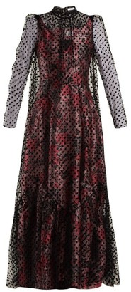 Erdem Eilian Tulle Overlay Floral Jacquard Gown - Womens - Pink Multi