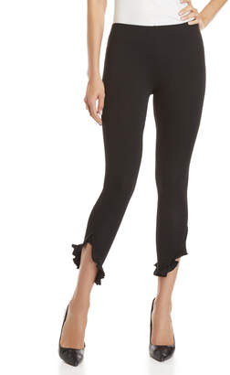 Jessica Simpson Black Ruffle Ankle Leggings