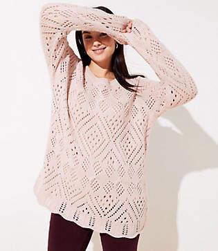 LOFT Plus Lacy Knit Sweater