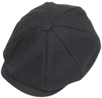 Fakeface Unisex Women Men Newsboy Cap Winter Warm Wool Blend Flat Tweed Cap  Cheviot Beret Applejack e3d7c5a5876e